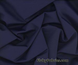 Navy Color Solid Nylon Spandex Fabric