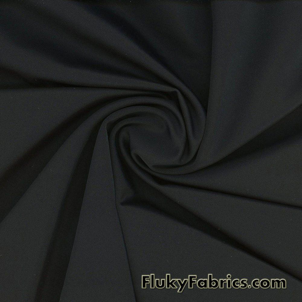 Black Solid Nylon Spandex Fabric  Fabric