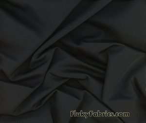 Black Solid Nylon Spandex Fabric