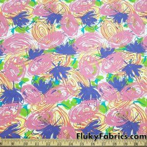 Colorful Doodles Print Single Spandex Fabric