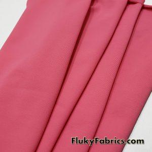 Camelia Pink Solid Nylon Spandex Swimwear Fabric