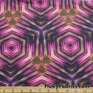 Geometric Kaleidoscope Print Nylon Spandex Swimwear Fabric