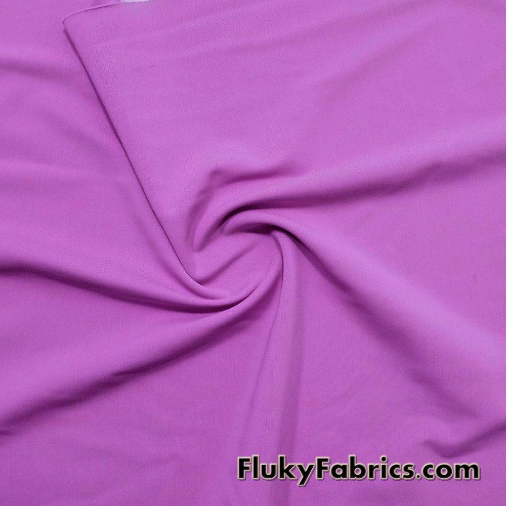 Deep Mauve Solid Nylon Spandex Swim Wear Fabric  Fabric