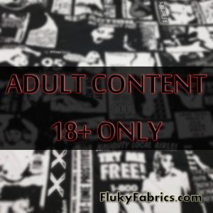 EXPLICIT Black and White XXX Adult Services Classified Ads Print Cotton Lycra Fabric