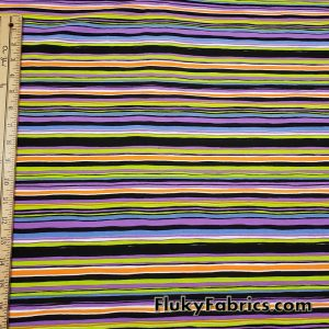 Halloween Irregular Stripes Print Cotton Jersey Fabric