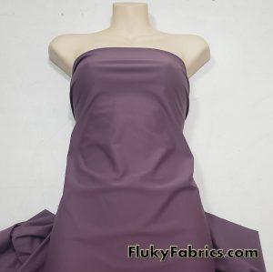 Mature Grape Purple Color Solid Nylon Spandex Swimwear Fabric