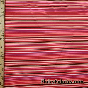 Nylon Spandex Multicolor Mini Stripes Fabric
