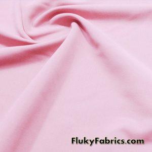 Light Pink Solid Nylon Spandex Swimwear Fabric