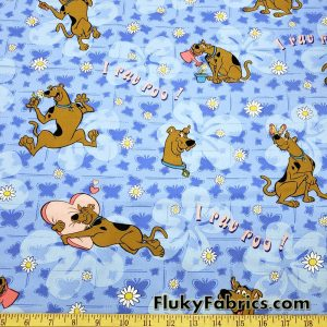 Cute Flowery Scooby Doo Cotton Woven