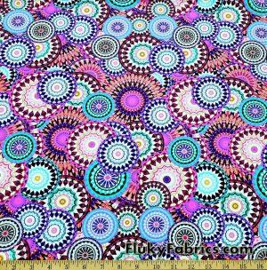 Beautiful Mandalas UV/Blacklight Reactive Swimsuit Nylon Spandex Fabric