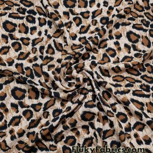 Leopard Animal Print 60″ Wide Cotton Woven Fabric