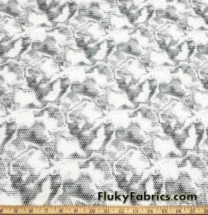 Albino Snake Nylon Spandex Swimsuit Swimwear Bikini Fabric