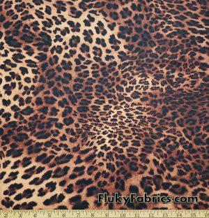 Brown Leopard Animal Print Swimsuit Bikini Nylon Spandex Fabric