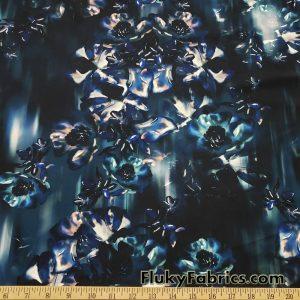 Cascade Abstract Flowers Nylon Spandex Swimwear Fabric