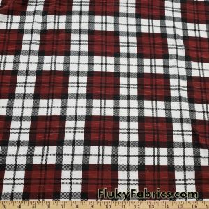 Plaid Slub Sweater Knit Fabric