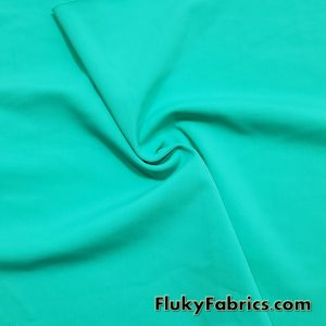 Aqua Green Color Solid 4 Way Stretch Nylon Spandex Swimsuit Fabric by the Yard