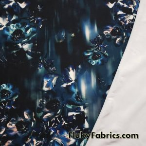 Cascade Abstract Flowers Nylon Spandex Swimwear Fabric