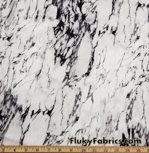 Black, White and Gray Marble Print Nylon Spandex Swimwear Fabric