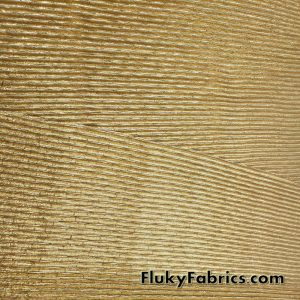 Accordion Pleated Gold Metallic Lame Fabric 44″ Wide