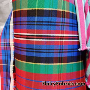 Slightly Flawed Acetate Yarn Dyed Plaid Taffeta Fabric by the Yard