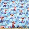 Cool Surfer Snoopy and Woodstock Cotton Woven Print Fabric  Fabric