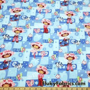 Strawberry Shortcake Poly Cotton Woven Print Fabric