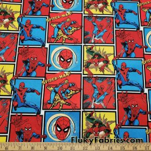 Spider Superhero Print 45″ Wide Cotton Woven Fabric
