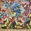Superhero Comic Books Print 45″ Wide Cotton Woven Fabric